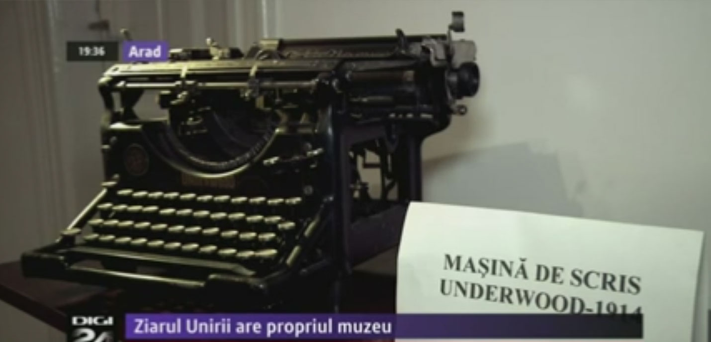 """Imagini din redacția """"Ziarului Unirii"""", care are propriul muzeu"""